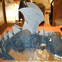 Dragon BC with wings and spikes made out of candy melts.