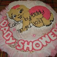 Its A Baby Girl a cute baby girl cake from scratch..