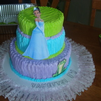 Princess & The Frog   three tier cake decorated with buttercream...