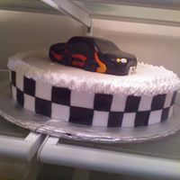 Race Car My nephew had a Hot wheels themed party... The car is carved made especially for the birthday boy... the rest of the cake was divied up for...