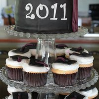 Graduation Cap Cupcake Tower