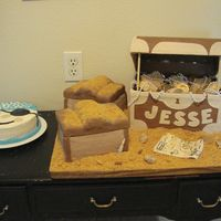 Treasure Chest And Pirate   Made this cake for my 4 yr. old grandson.