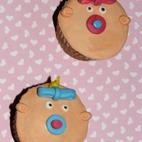 Baby Cupcakes February CupcakesBabyCupcakes with beanies and pacifiers Im doing a Planet Cake Challange and this was February Cupcakes