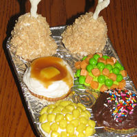 Tv Dinner Cupcakes I've seen these cupcakes on Martha Stewart, in the Hello Cupcake Book, and on other sites. So tomorrow is fathers day and I decided to...