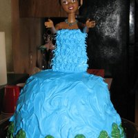 Princess And The Frog Doll Cake Princess and the Frog Doll Cake I made for my god-daughter. My first doll cake :)