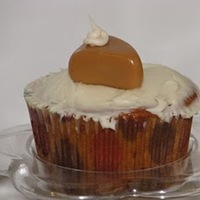 Pumpkin Pie Cupcake Toppers Pumpkin Pie Cupcake ToppersMade from Caramels