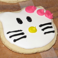 Hello Kitty Cookies I made these Hello Kitty Cookies for a Friends daughters 2nds birthday party!!! Sugar cookies with RI