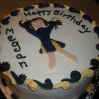 Bc With Fondant Cheerleader Not that great of a cake I know, Hate when I leave things for the last minute.