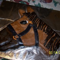 Carved Horse Cake For My Brothers Birthday   White cake covered in buttercream frosting and mmf...