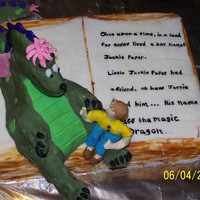 Puff The Magic Dragon  First time entering a contest...Storybook.. with Puff the magic dragon and Little Jackie Paper sitting on his knee..Butter Pecan cake...(...