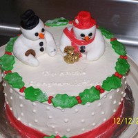 Christmas Engagement  My nieces engagement cake....I actually was inspired by one I saw on this site..made a couple of small changes...cake was strawberry, white...
