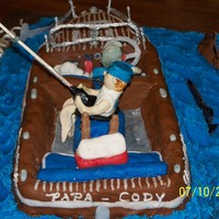 1924 Replica Of A Chris Craft  My Uncle and Nephews Birthday..wanted a boat and fishing scene..so I made a replica of a 1924 Chris Craft(uncles birthdate) Boat made out...