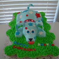 Red, White, & Blue Puppy Puppy made out of RKT, and covered with MMF. My 5 year old chose the color scheme since his birthday party was on July 3rd. He wanted a &...