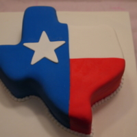 Texas, Oh Texas! coffee flavored cake with almond toffee buttercream