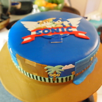 Sonic The Hedgehog Chocolate cake with chocolate buttercream. All decorations hand cut out from mmf