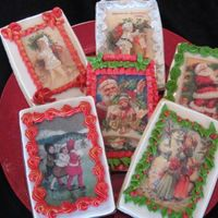 Vintage Christmas Cookies These are edible wafer paper designs with RI borders.