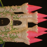 Mckenna's Castle  This is my 1st castle cake. My darling 6-year-old niece wanted a princess castle for her birthday party. She hasn't seen it yet, so I...