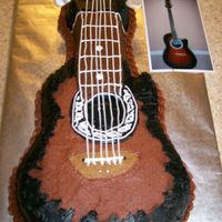 Guitar This was made for a 40th birtday to be a replica of a guys favorite quitar.