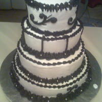 Black And White black and white buttercream