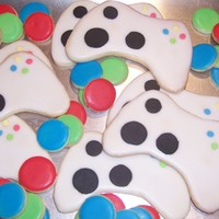 Xbox Controller Cookie Made these as a surprise for my son. He started critiquing the button placement before he realized they were for him!