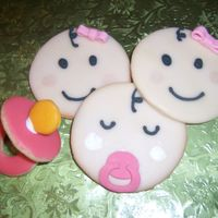 Baby Girl Cookies 3D pacifier cookie and baby faces