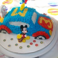 Mickey And His Car Mickey Mouse car cake for my boyfriend's son.