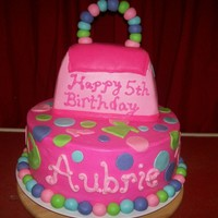 Barbie Purse Cake  Cake made for a friend's daugter. She saw a cake made by cakecentral member cbonenbe and wanted me to do similar, only not covered in...