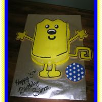 Wubbzy Wow Wow Wubbzy. Arms, legs, tail and kicky kick ball are made from sugar cookies. The kids fought over who would get which arm or leg even...