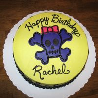 Skull And Crossbones This was for a little girl turning 4. Butter cream frosting with MMF accents.