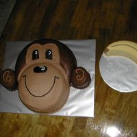 Monkey Cake Monkey and a banana smash cake for a 1st birthday