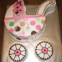 Baby Buggy Cake Baby Buggy made to match the baby's room.