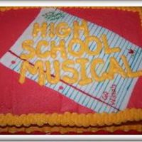 High School Musical  This is the cake I did for my daughter's 7th birthday. She wanted High School Musical on her cake and didn't want it store bought...