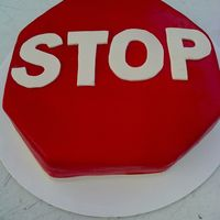 Stop Sign For my nephew's 16th bday, marble cake w/chocolate mousse filling.