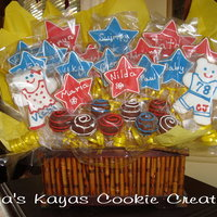 Fathers Day Cookie Bouquet   Bouquet personalized with Papa's kids, grandkids and great-grandkids names.