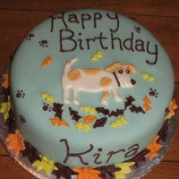 Thanksgiving Birthday For a little girl's B'day just before Thanksgiving. They wanted a dog on it that looked like their dog and some fall colors....