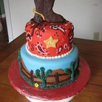 Cowboy  I was inspired by a gorgeous cake I saw on CC by KimAZ and I have been wanting to do a cowboy cake ever since I saw it. My husband's...