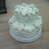 Classic a re-run of an old wedding cake for a 50th anniversary