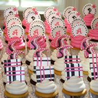 Bat Mitzvah Cupcakes And Big Cupcake Cake