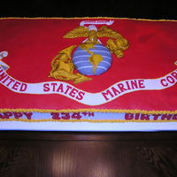 Marine Corps 234Th Birthday Cake I made this cake for my husband's unit at LRAFB.