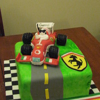Ferrari Lover Turns 50! I needed to do a Ferrari formula 1 race car for a 50yr old Italian man. Thanks to CC for the inspiration! They loved it and he kept the...