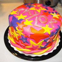 Blast From The 80's Made for a friend for her birthday. I say it looks like the 80's threw up on this cake!!