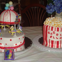 Carnival Themed Birthday Here are the two cakes that I made for my daughter's 3rd birthday. She had a carnival theme. I would like to thank everyone on this...