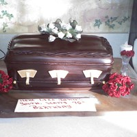 Casket Cake I was asked to do this cake for a friend's 40th surprise birthday party...He is a funeral director. I did get a few basic ideas from...
