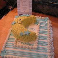 It's A Boy Baby Shower I made the Baby Shower Cake look just like the Shower invitation. Iced with Dairy Pride, a non dairy product, and accented with fondant...