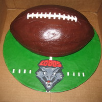 Lobos Football chocolate fudge BC football w/ fondant accents Lobos logo in modling chocolate