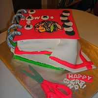 Chicago Blackhawks Scrapbook Thanks to Arty for the inspiration! I made this cake for a woman who has two obsessions. The Chicago Blackhawks and Scrapbooking. Each cake...