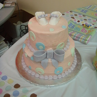 Work Baby Shower I made this cake for an office baby shower for one of my co-workers. She is having a baby girl. Lemon poppyseed cake with lemon curd...