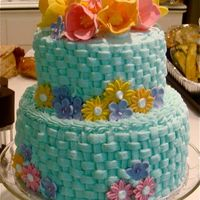 85Th Birthday Made this cake for my grandma's 85th birthday. Buttercream frosting and gumpaste flowers.