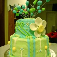 Flower Birthday Cake First of all, this is created after one of TONEDNA's beautiful cakes! This cake is what I re-made after my first major cake disaster (...