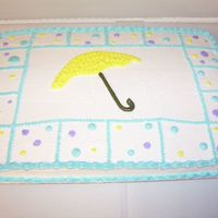 Baby Shower My first baby shower cake. Design was used to match the invitations used.